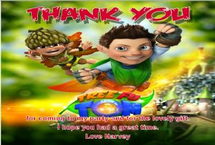 Personalised Tree Fu Tom Thank You Cards